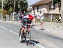 骑自行车者路易斯Meintjes - Criterium du杜法因呢2017年 免版税库存图片