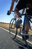 骑自行车者路 图库摄影