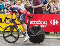 骑自行车者达米亚诺卡鲁索-环法自行车赛2015年 图库摄影