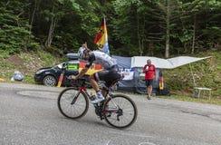 骑自行车者迈克尔马休斯-环法自行车赛2017年 图库摄影