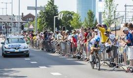 骑自行车者迈克尔马休斯-环法自行车赛2015年 库存照片