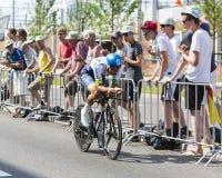 骑自行车者迈克尔马休斯-环法自行车赛2015年 免版税库存图片