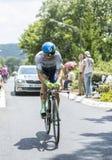 骑自行车者迈克尔Albasini -环法自行车赛2014年 免版税库存图片