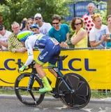 骑自行车者迈克尔Albasini -环法自行车赛2015年 免版税库存图片