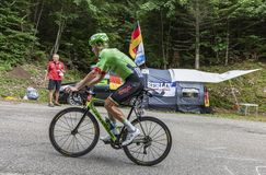 骑自行车者迪伦van Baarle -环法自行车赛2017年 库存图片