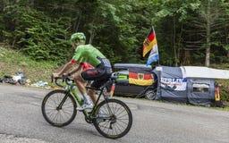 骑自行车者迪伦van Baarle -环法自行车赛2017年 库存照片