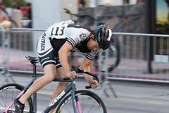 骑自行车者迷离行动的 免版税库存图片