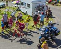 骑自行车者阿尔贝托Losada -环法自行车赛2016年 库存照片