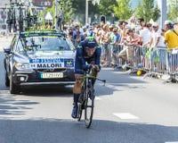 骑自行车者阿德里亚诺Malori -环法自行车赛2015年 免版税库存图片