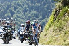 骑自行车者阿瑙德Demare -环法自行车赛2015年 库存图片