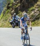 骑自行车者阿瑙德Demare -环法自行车赛2015年 图库摄影