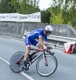 骑自行车者阿诺德Jeannesson -环法自行车赛2014年 免版税库存图片