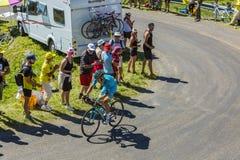 骑自行车者雅各布Fuglsang -环法自行车赛2016年 库存照片