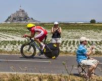骑自行车者雷斯天使伙伴Mardones 免版税图库摄影