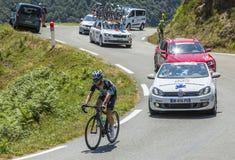 骑自行车者马克・卡文迪什-环法自行车赛2015年 库存图片