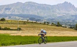 骑自行车者马克・卡文迪什 图库摄影