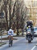 骑自行车者马塞尔Kittel-巴黎尼斯2013年序幕在Houilles 免版税库存图片
