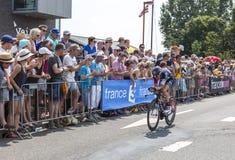骑自行车者马塞尔Wyss -环法自行车赛2015年 库存照片