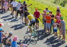 骑自行车者马尔滕Wynants -环法自行车赛2016年 免版税库存照片