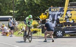 骑自行车者马尔滕Wynants 库存图片