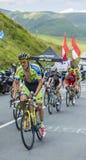 骑自行车者马泰奥Tosatto -环法自行车赛2014年 免版税库存图片