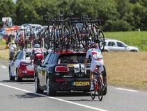 骑自行车者鲁迪Molard -环法自行车赛2017年 免版税库存照片