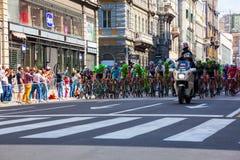 骑自行车者,环意自行车赛 库存照片