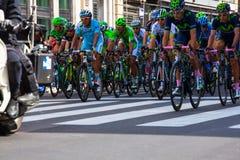 骑自行车者,环意自行车赛 免版税库存照片