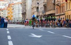 骑自行车者,环意自行车赛 免版税库存图片