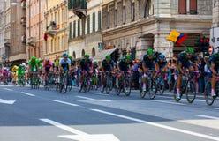 骑自行车者,环意自行车赛 库存图片