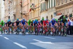 骑自行车者,环意自行车赛 图库摄影