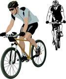 骑自行车者 库存例证