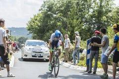 骑自行车者延什Keukeleire -环法自行车赛2014年 库存图片