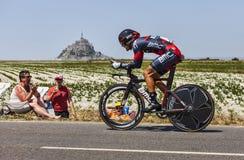 骑自行车者Amaël Moinard 库存图片