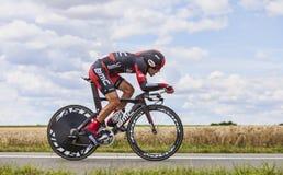 骑自行车者Amael Moinard 免版税图库摄影
