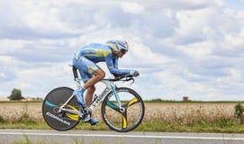 骑自行车者Andrij Grivko 免版税库存照片
