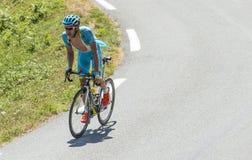 骑自行车者Andriy Grivko -环法自行车赛2015年 免版税库存图片