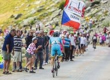 骑自行车者Andriy Grivko -环法自行车赛2015年 免版税库存照片