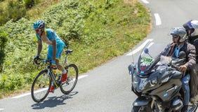 骑自行车者Andriy Grivko -环法自行车赛2015年 库存照片