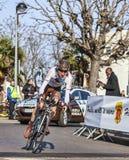骑自行车者Bardet罗迈因巴黎尼斯2013年Prologu 库存图片