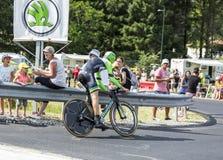 骑自行车者Bauke Mollema -环法自行车赛2014年 库存照片