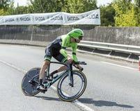 骑自行车者Bauke Mollema -环法自行车赛2014年 库存图片