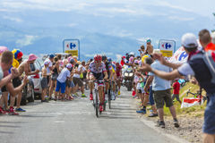 骑自行车者Bauke Mollema-环法自行车赛2017年 免版税库存图片