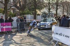 骑自行车者De gendt托马斯巴黎尼斯2013年Prolo 库存照片