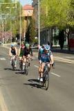 骑自行车者duathlon组我托莱多 免版税库存照片