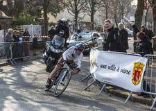 骑自行车者Dumoulin塞缪尔巴黎尼斯2013年Prolo 库存照片