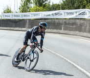骑自行车者Geraint托马斯-环法自行车赛2014年 免版税库存照片