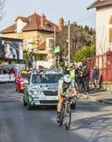 骑自行车者Hivert乔纳森巴黎尼斯2013年序幕在Houille 库存照片
