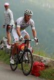 骑自行车者hushovd托尔 库存图片