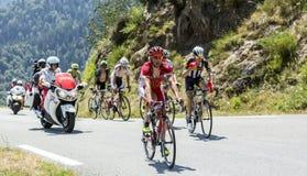 骑自行车者Julien西蒙-环法自行车赛2015年 免版税库存照片